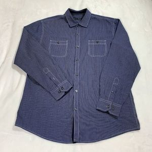 Michael Brandon Long Sleeve Chest Pockets Shirt XL